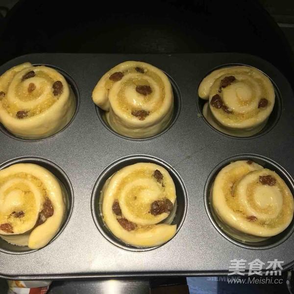 椰蓉葡萄干面包卷的制作