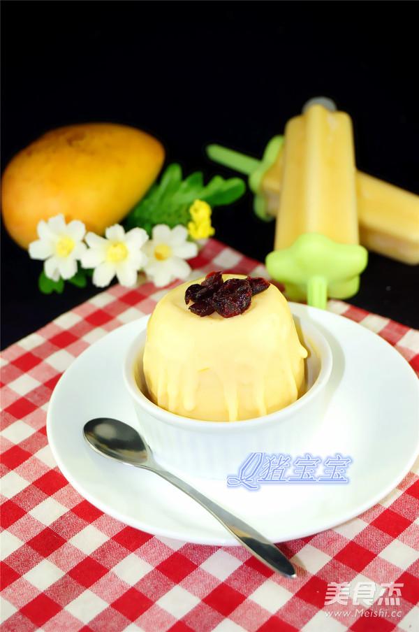 自制芒果冰淇淋成品图
