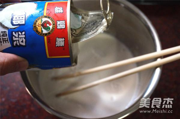 椰汁红豆糕怎么吃
