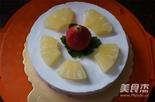 香梨水果慕斯蛋糕的制作方法