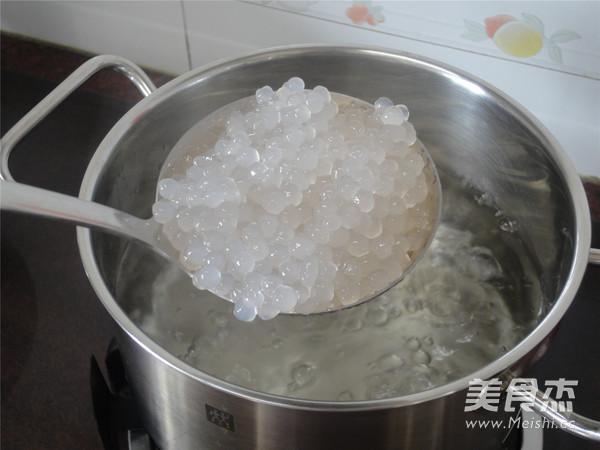 椰汁火龙果西米露怎么煮