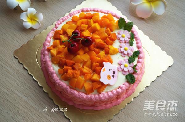 粉嫩酸奶生日蛋糕怎样炖