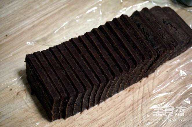 预拌粉版:巧克力切片曲奇怎么炒