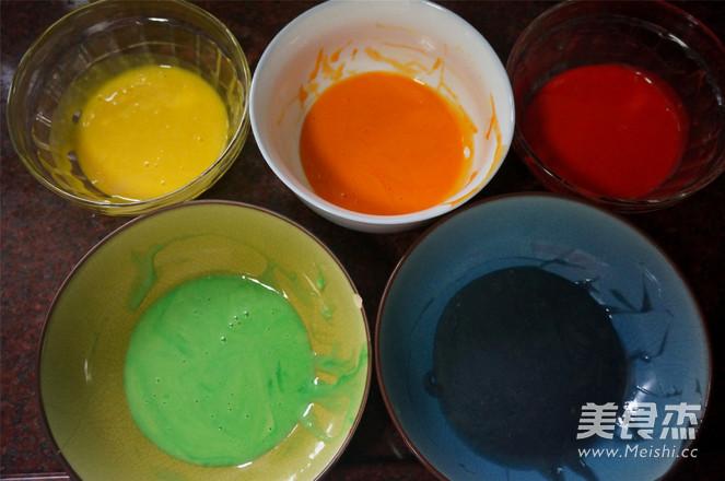彩虹蛋糕的简单做法
