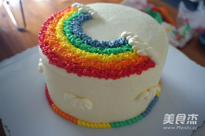 彩虹蛋糕怎样炒