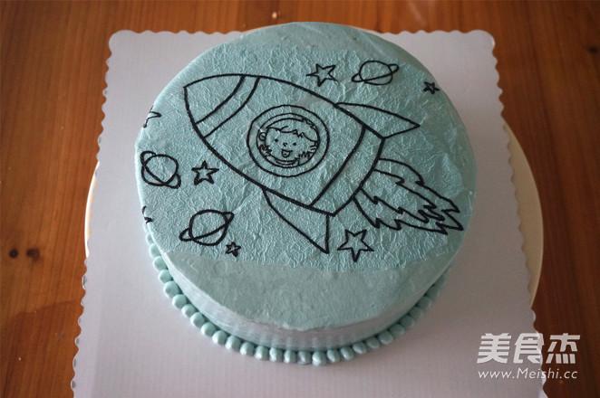 小火箭生日蛋糕怎么煸