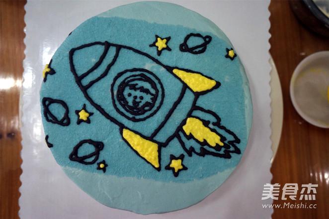 小火箭生日蛋糕怎样煸
