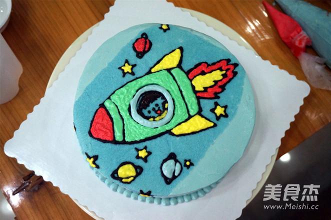 小火箭生日蛋糕怎样做