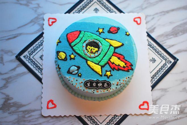 小火箭生日蛋糕怎样炒