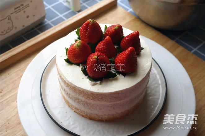 6寸草莓裸蛋糕怎样煸