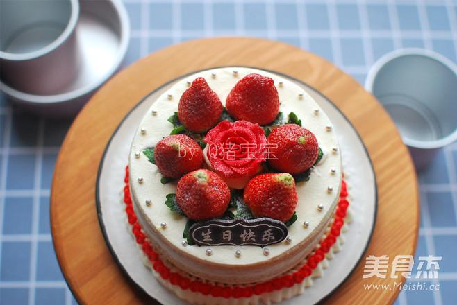 6寸草莓裸蛋糕怎样做