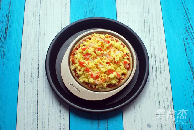 蟹味肉酱披萨的家常做法