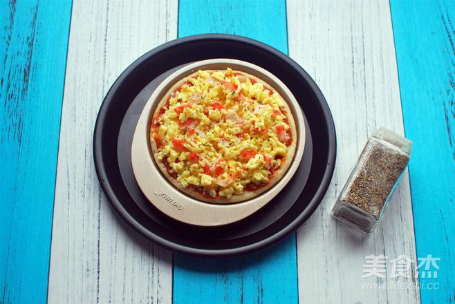 蟹味肉酱披萨的简单做法