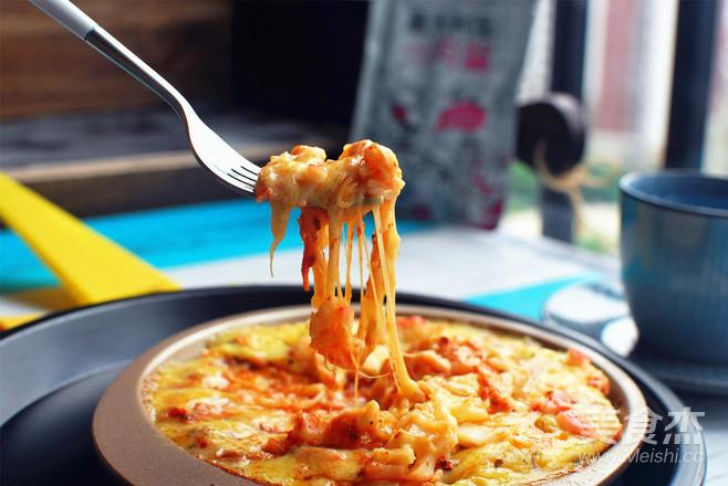 蟹味肉酱披萨怎么炒