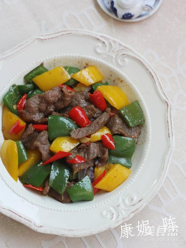 青椒炒牛肉成品图