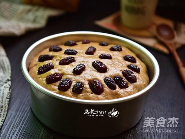红枣豆浆发糕成品图