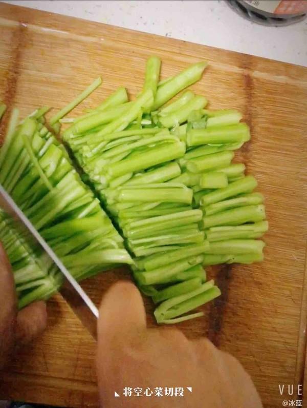 清炒空心菜的简单做法