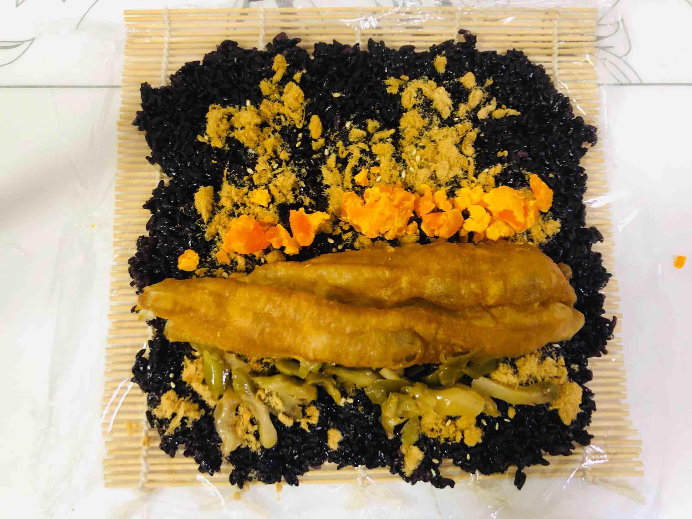 黑米饭团怎么炒