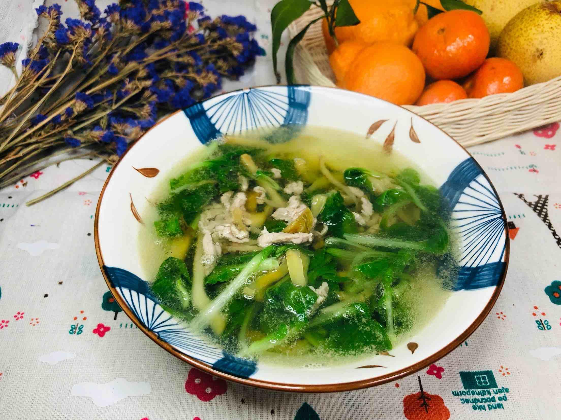 青菜榨菜肉丝汤怎么炒