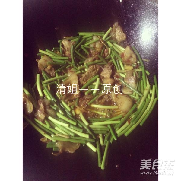 蒜苔回锅肉的简单做法
