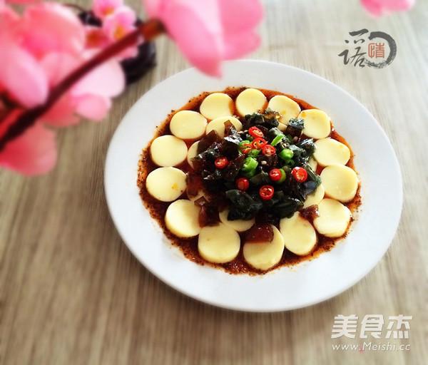 香辣皮蛋豆腐成品图