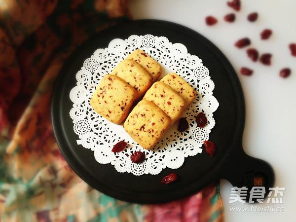 蔓越莓饼干成品图