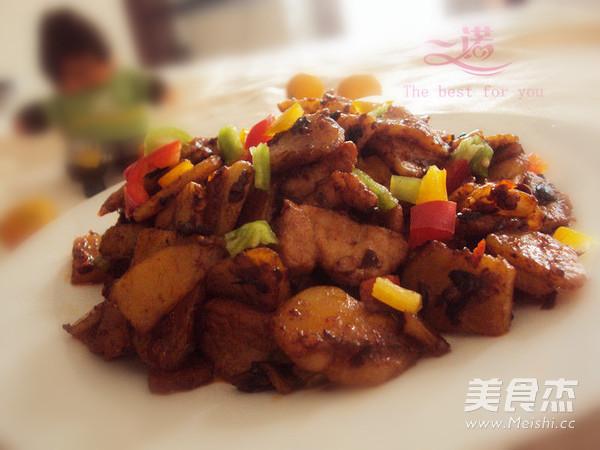 干锅土豆片成品图
