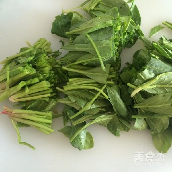 芥末拌菠菜的家常做法