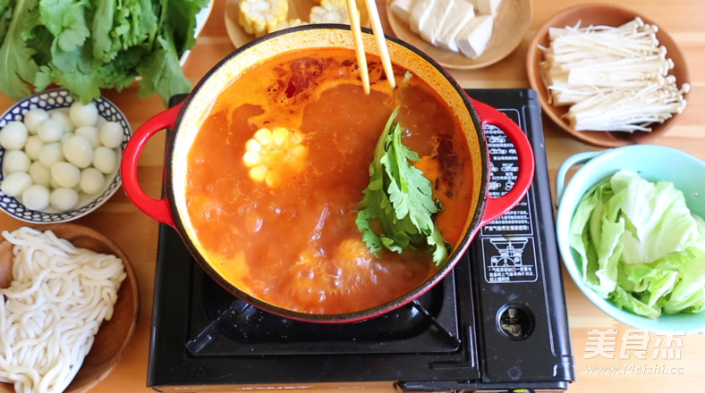 番茄牛肉火锅怎样煸