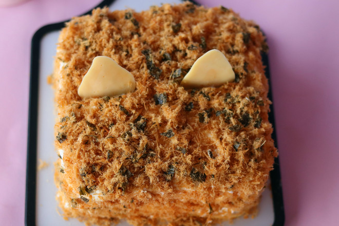 海苔肉松咸奶油蛋糕怎样炖