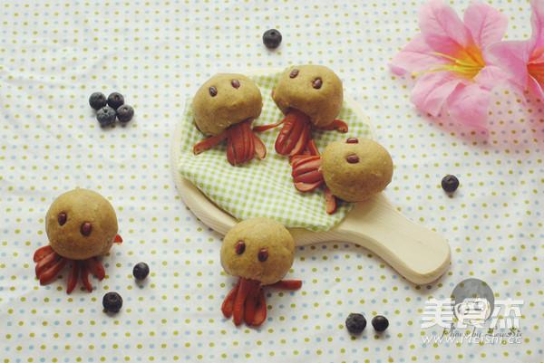 胡萝卜黑麦机车八爪鱼面包的制作方法