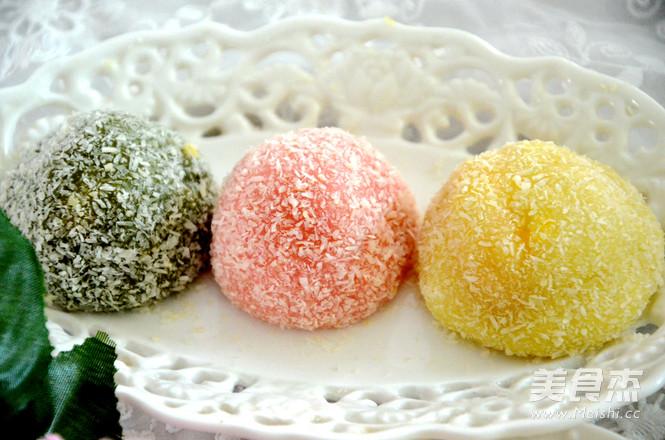 彩色糯米糍怎样做