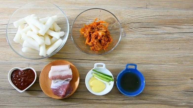 辣白菜炒年糕的做法大全