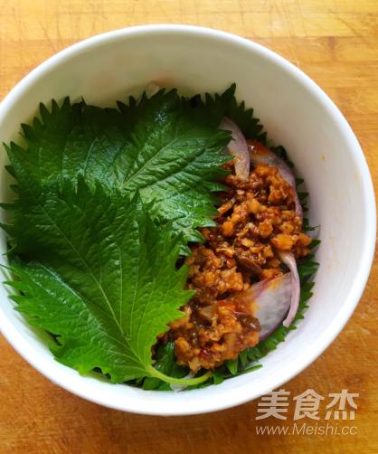 紫苏蒸辣肉的制作