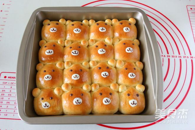 小熊挤挤面包的制作