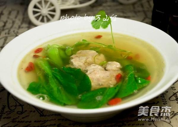 清汤炖羊脑成品图