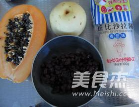 红豆木瓜香甜沙拉的简单做法