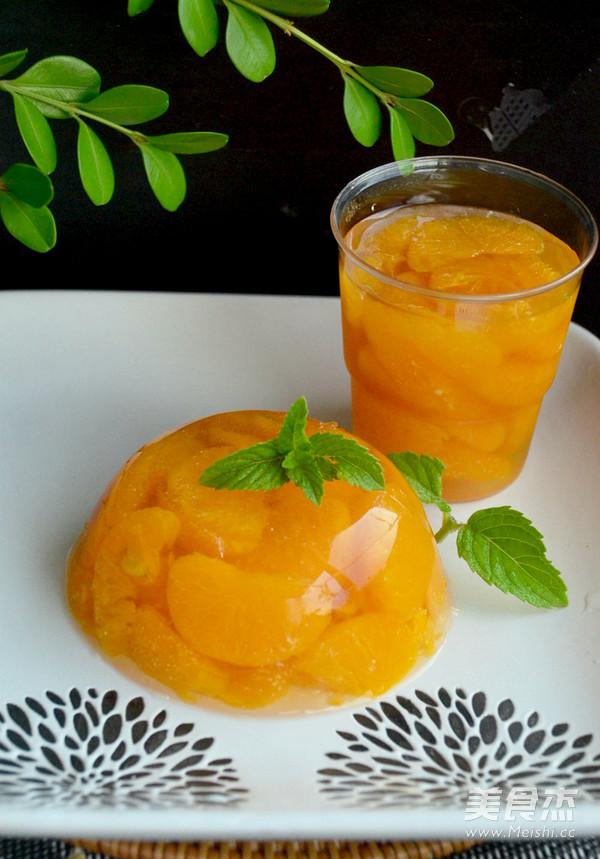 橘子果冻成品图