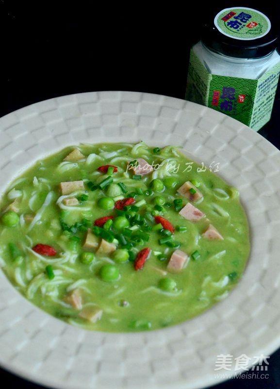 豌豆银鱼汤成品图