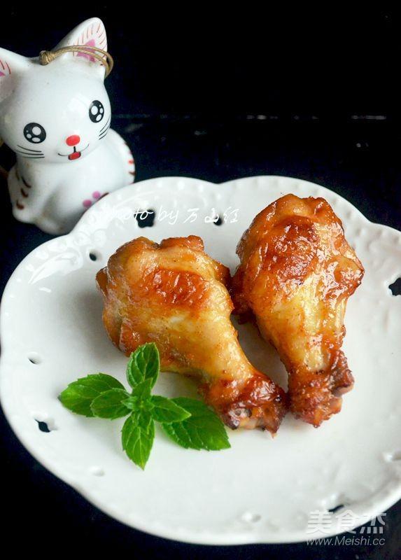 蜜汁烤鸡翅根成品图