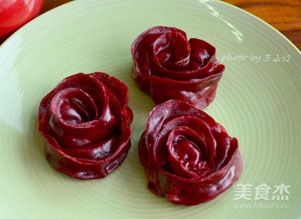 玫瑰花煎饺成品图