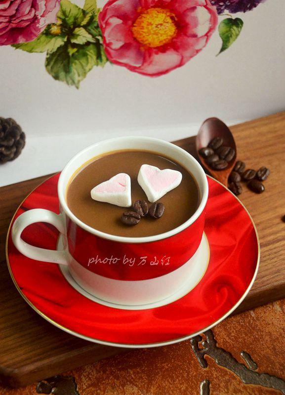 咖啡奶冻成品图