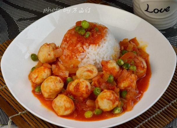 茄汁鱼丸饭怎样做