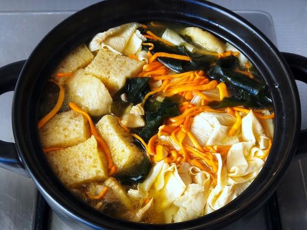 鸡汤炖油皮怎么炒