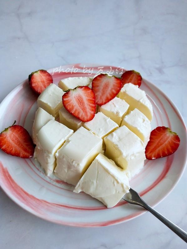 豆腐块酸奶成品图