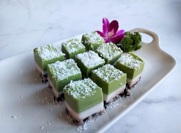 蜜豆香兰椰糕怎样做