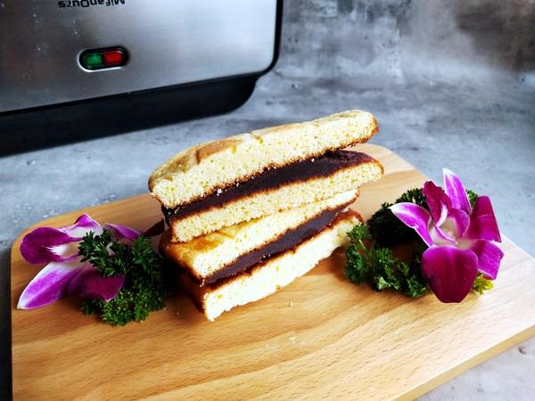 豆沙蛋糕三明治的步骤