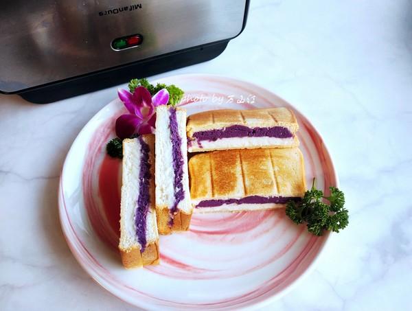 紫薯山药三明治成品图