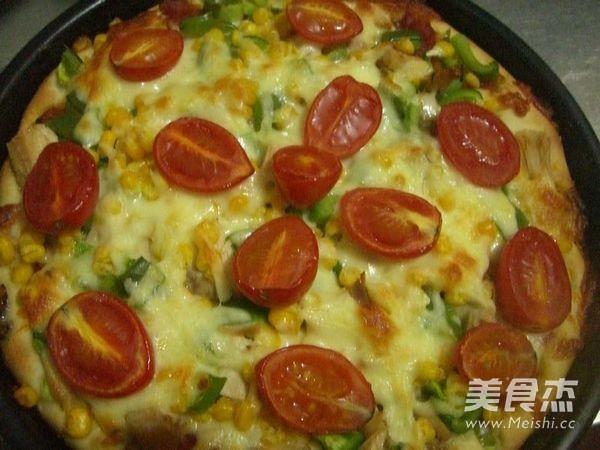 鸡肉玉米披萨的制作大全