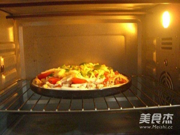 火腿核桃仁披萨怎样炒